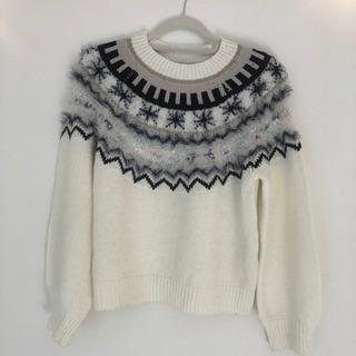 PAGEBOY ホワイト ニット セーター