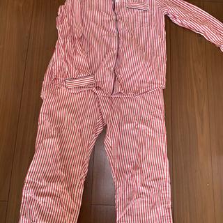 長袖 パジャマ GU 赤 ストライプ