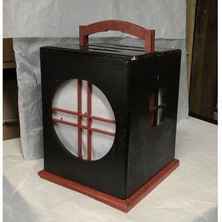 e373 行灯 行燈 木製 あんどん 行灯皿付き 古道具