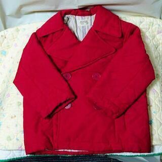 ☆中古品☆ 子供服 赤の温かいアウター コート (100)