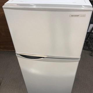 【美品】シャープ 2ドア冷凍冷蔵庫 SJ-H12W-S 118L
