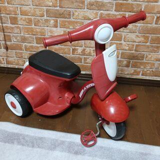 三輪車 室内用 中古 玩具・おもちゃ ラジオフライヤー