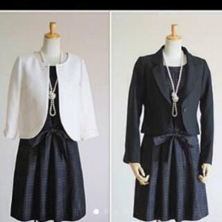新品【11号】結婚式・学校行事・・・多用途スーツ濃紺・白3P