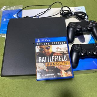 お得!PS4 CUH-2000 500GB コントローラー2個 ソフト付きの画像