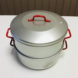 【中古】蒸し鍋 アルミ製 直径20cm