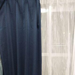 カーテン Blue and white curtains (Us...