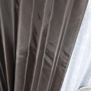 カーテン Brown curtains (Used like new)