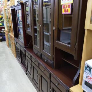 カリモク 4面食器棚 刈谷木材 カップボード 162×45×192cm 1116-01の画像