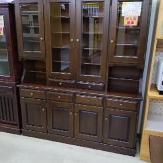 カリモク 4面食器棚 刈谷木材 カップボード 162×45×192cm 1116-01 - 糸島市