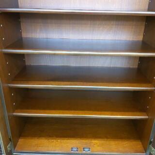 カリモク 4面食器棚 刈谷木材 カップボード 162×45×192cm 1116-01 - 家具