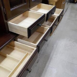 カリモク 4面食器棚 刈谷木材 カップボード 162×45×192cm 1116-01 − 福岡県