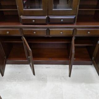 カリモク 4面食器棚 刈谷木材 カップボード 162×45×192cm 1116-01 - 売ります・あげます