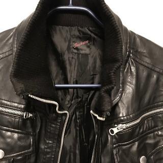 JACKROSE ジャックローズ ライダースジャケット リブ付き M黒