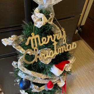 クリスマスツリー125センチ 鉢付き 装飾つき