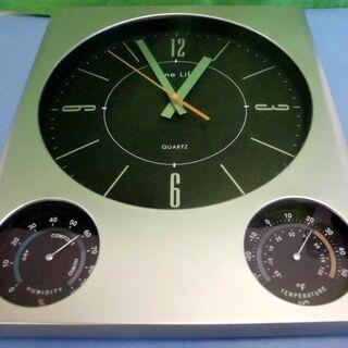 JM8988)ファインライフ壁掛け時計 サイレントムーブ 温度・...