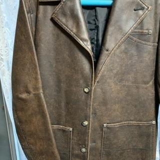 中古 合皮 ジャケット茶色 Mサイズ