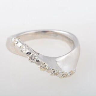 K18WG ダイヤモンド リング 品番9-248