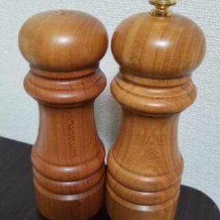 高級木製💓塩・こしょうミルセット