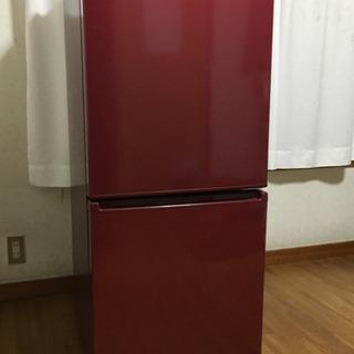 ♪AQUAの2ドア冷蔵庫 ワインレッド 。取りに来ていただける方...