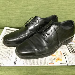 【HAWKINS】ビジネスシューズ 革靴 黒 ブラック【ホーキンス】
