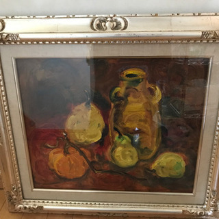 Kei 作 油絵 油彩 果物の静物画 高級額 F8 アンテ…