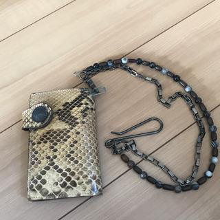 蛇柄財布、チェーン付き