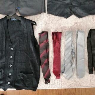 【ネット決済】ベスト7枚 ネクタイ6本 Sサイズ Mサイズ