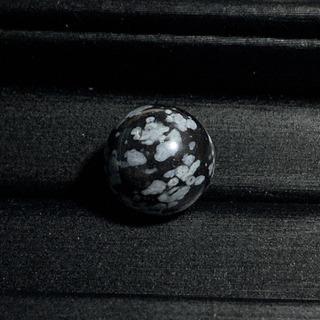 スノーフレークオブシディアン(12mm玉)粒売り