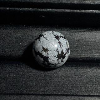 スノーフレークオブシディアン(13mm玉)1点物 粒売り