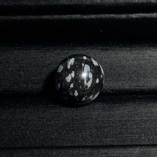 スノーフレークオブシディアン(11mm玉)1点物 粒売り