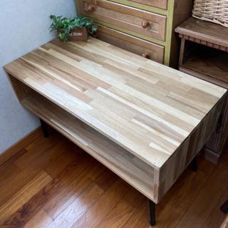 リビング ワイド 幅広 テーブル 折り畳み 収納 テーブル
