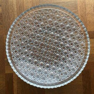 <美品>HOYA クリスタルガラス 大皿 直径約31㎝