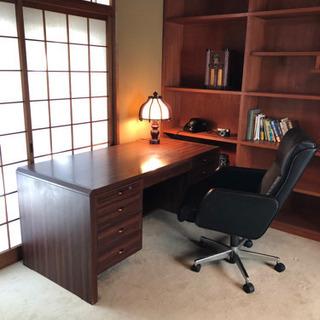 書斎の机、椅子セット
