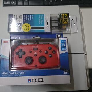 PS4(CUH-1100A)本体・電源ケーブル・HDMI・HOR...