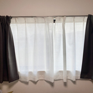 【ネット決済・配送可】無印遮光カーテン ニトリミラーカーテン