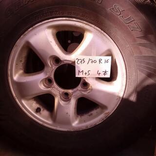 M+S 275/70R16 ホイール アルミ 4本 DUN…
