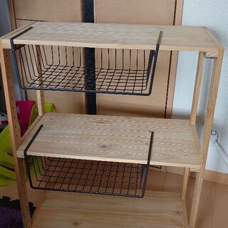 ニトリ 棚 木製 2段