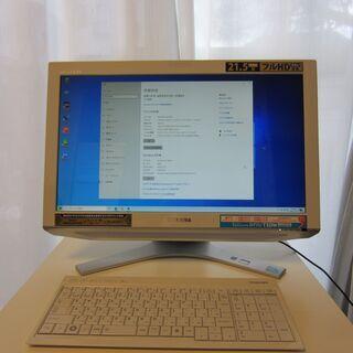 値下げしました!21.5型FHD液晶搭載一体型PC 東芝REGZ...