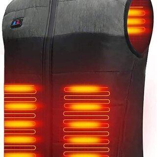 加熱ベスト ヒートジャケット 加熱服 USB充電式電熱ベスト ダ...