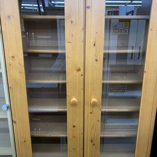 【値下げ】シギヤマ家具 2面食器棚 糸島福岡唐津 1119-03 - 家具