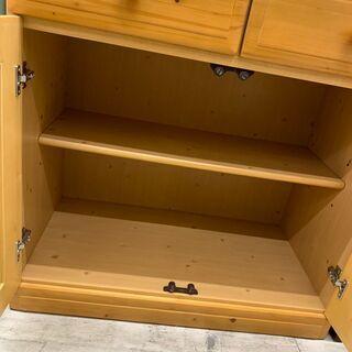 【値下げ】シギヤマ家具 2面食器棚 糸島福岡唐津 1119-03 - 売ります・あげます