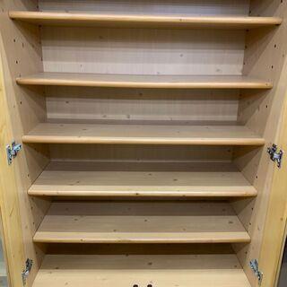 【値下げ】シギヤマ家具 2面食器棚 糸島福岡唐津 1119-03 − 福岡県