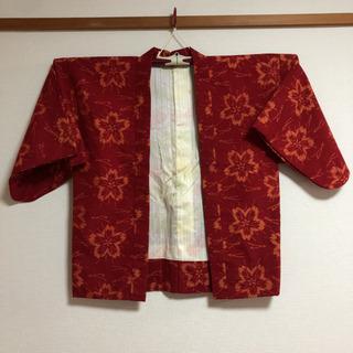 半纏(はんてん)赤 レディース 綿なし 手作り