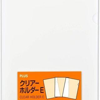 【新品】プラス クリアファイル クリアホルダー E A4 100...