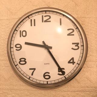 美品 掛け時計 IKEA  イケア シルバー