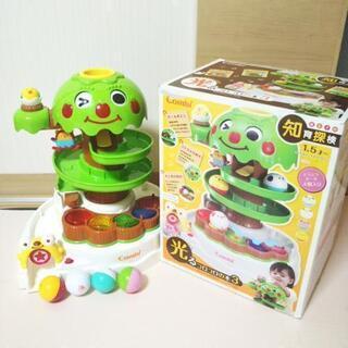 ☆値下げ☆赤ちゃんおもちゃ☆コンビ光るコロコロの木3☆知育…