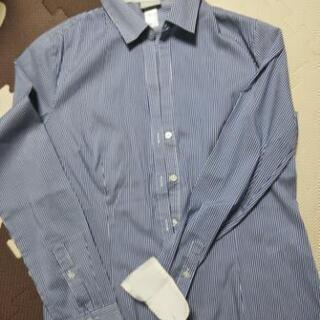 H&M ブルーストライプシャツ レディース