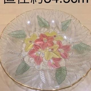 大皿 紫陽花 ガラス