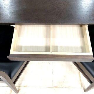 札幌近郊 送料無料 ダイニングテーブル 2人用 引出付き 135cm - 家具