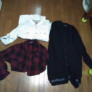 【ネット決済・配送可】メンズ9点コート、カーデ、パーカ、シャツなど